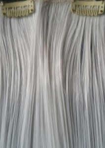 Clip in hair extensions -Xmen rogue cut