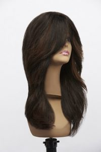 side swept fringe -long wig